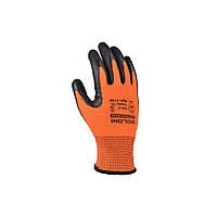 Перчатки рабочие ХБ с латексным покрытием Doloni Extragrab оранжевые 4196