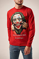 Чоловічий світшот червоний Джокер Посмішка
