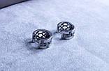 Сережки фірми Xuping (Rhodium color 8), фото 2