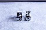 Сережки фірми Xuping (Rhodium color 8), фото 5