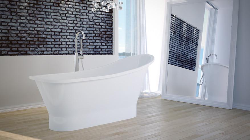 Ванна отдельно стоящая GLORIA 150х66х75 см с сифоном BESCO PMD AMBITION
