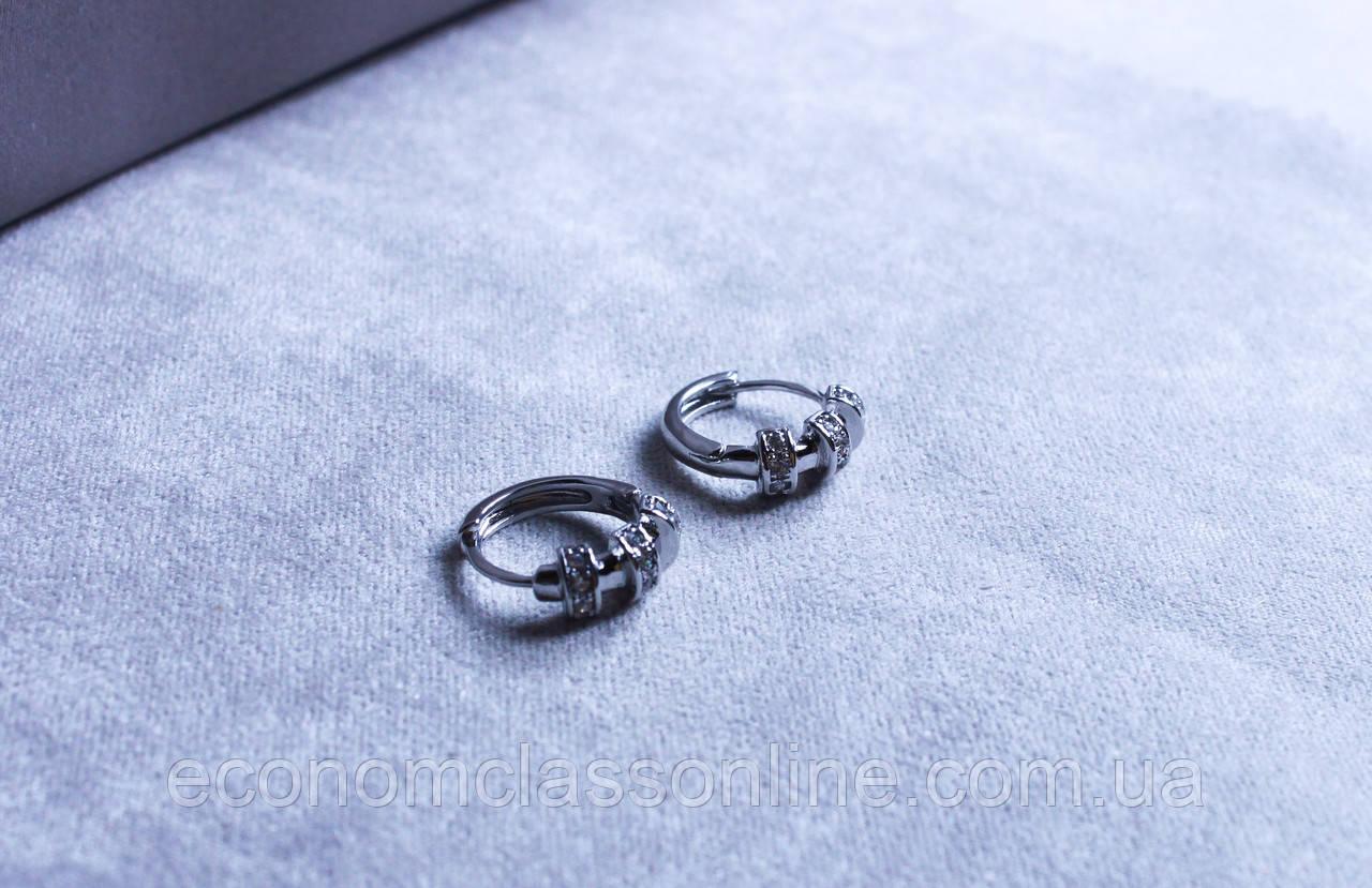 Сережки фірми Xuping з родієвим покриттям (Rhodium color 6)