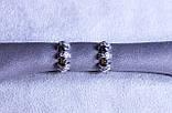 Сережки фірми Xuping з родієвим покриттям (Rhodium color 6), фото 2