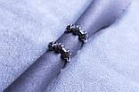 Сережки фірми Xuping з родієвим покриттям (Rhodium color 6), фото 3