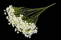 Букет искусственных цветов для декора из латекса Гипсофила молочная, 40х15см, 7веток, цветок 0,5см, ветка
