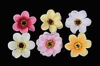 Микс декоративных тканевых цветов Ballota для рукоделия, разные цвета, декоративные цветы, тканевые цветы,