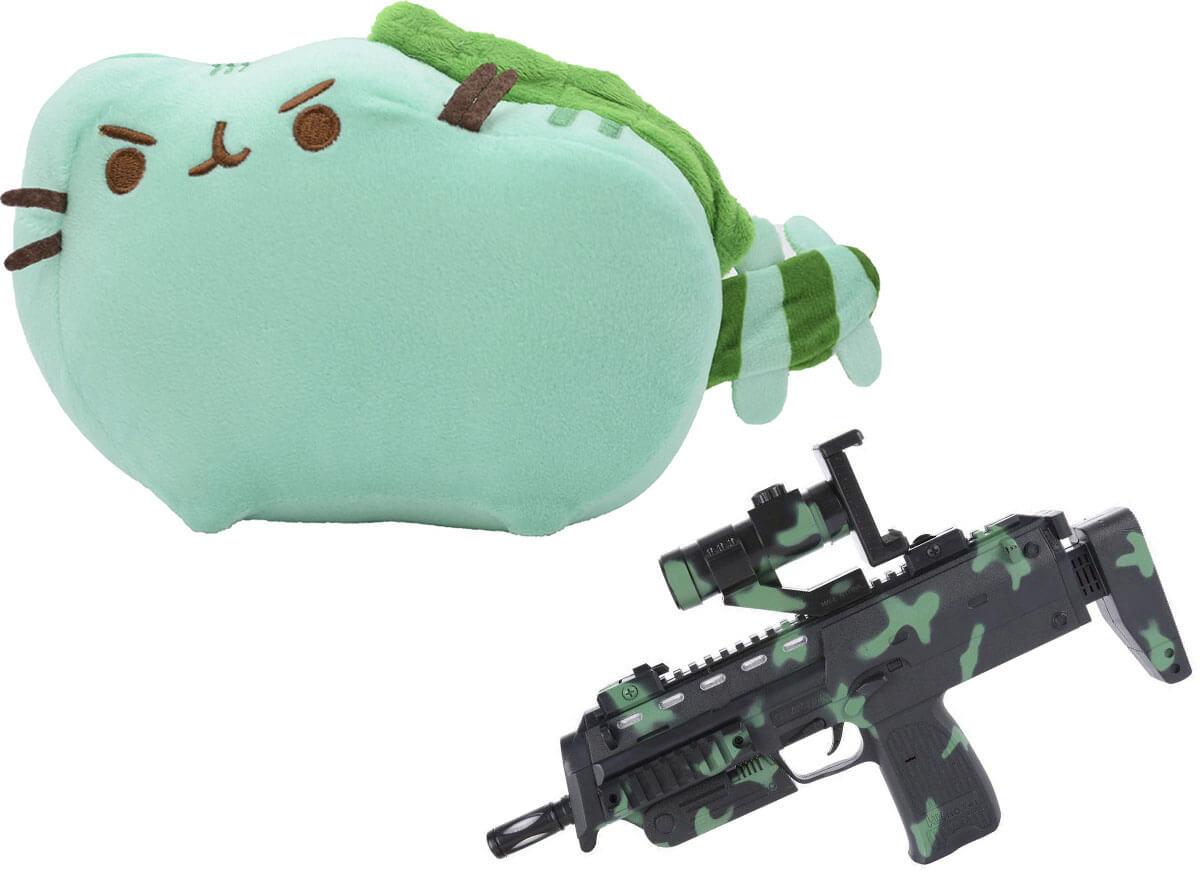 Комплект Мягкая игрушка кот дракон Pusheen cat и Автомат дополненной реальности (vol-712)