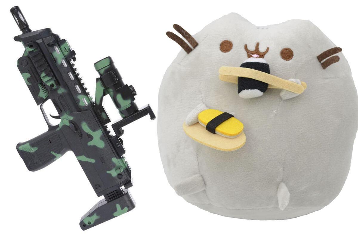 Комплект Мягкая игрушка кот с суши Pusheen cat и Автомат дополненной реальности (vol-713)