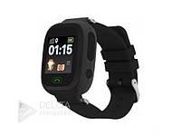Smart часы детские сенсорные Q90 черные, GPS/ LBS, microSIM 2G, Android и iOS, цифровые часы, шагомер,