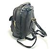 Рюкзак женский кожаный Brush c бантиком Черный, фото 2