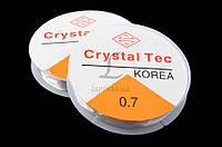 Леска эластичная для рукоделия Crystal Tec цена за 10 шт, 0,7ммх10м, леска для рукоделия, леска эластичная