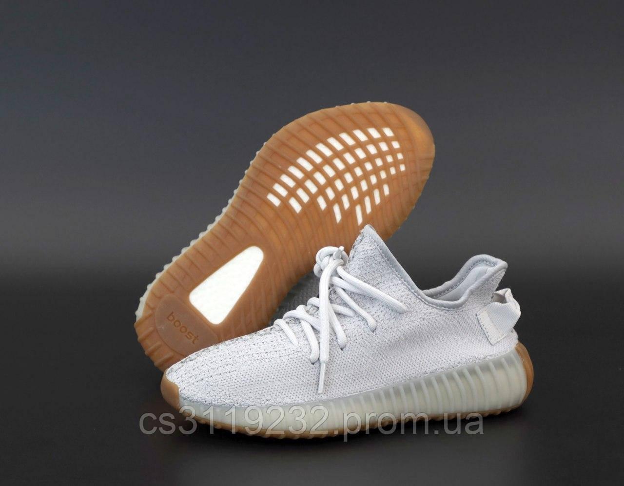 Мужские кроссовки Adidas Yeezy Boost 350 Sesame(серые)