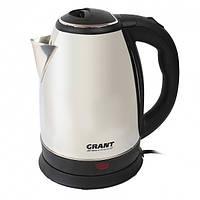 Электрический чайник Grant DT-0418 нержавеющая сталь, 2л, 1500Вт, закрытая спираль, электрические чайники,