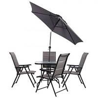 Комплект садовой мебели Playa коричневый/бежевый (AMF-ТМ) темно-серый