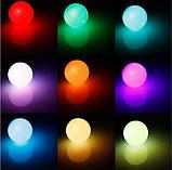 Лампа світлодіодна цветная з пультом управління Е27 10W RGB LED, фото 4