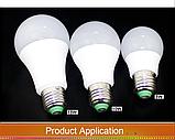 Лампа світлодіодна цветная з пультом управління Е27 10W RGB LED, фото 7