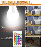 Лампа світлодіодна цветная з пультом управління Е27 10W RGB LED, фото 6