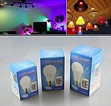 Лампа світлодіодна цветная з пультом управління Е27 10W RGB LED, фото 8