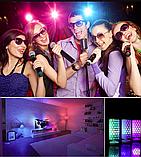 Лампа світлодіодна цветная з пультом управління Е27 10W RGB LED, фото 5