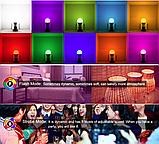 Лампа світлодіодна цветная з пультом управління Е27 10W RGB LED, фото 9