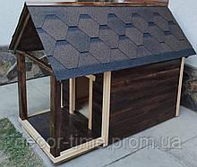 Будка для собаки с верандой. Будка-домик для большой собаки (Модель 23453)