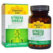 Антистрессовый Энергетический Комплекс, Stress Shield, Country Life, 60 вегетарианских капсул