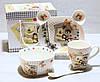 Посуд дитячий з порцеляни Ведмедика (4 предмета)