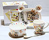 Посуда детская из фарфора Мишки (4 предмета)