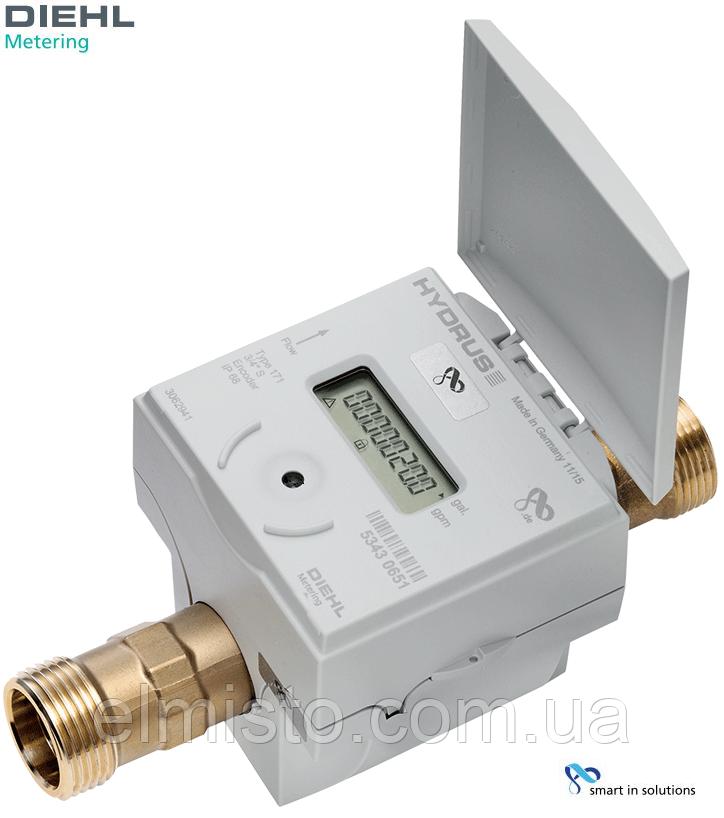 Ультразвуковой водосчетчик HYDRUS 20-4,0 DN20 - G1B Qn4.0 муфта, L=190, R250, с дисплеем, M-Bus  (Германия)
