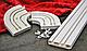 """Декоративная лента на потолочный карниз Бленда Меандр 3 """" Орех Тёмный"""" на потолочный карниз КСМ 70мм, фото 10"""
