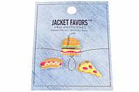Набор металлических значков для одежды Jacket Favors разные цвета, 3шт, значки, металлические значки