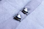 Сережки-сердечка фірми Xuping (Rhodium color 26), фото 2