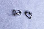 Сережки-сердечка фірми Xuping (Rhodium color 26), фото 3
