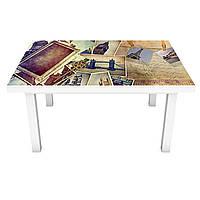 Наклейка на стіл вінілова Ретро Фотографії ПВХ плівка для меблів інтер'єрна 3D Вінтаж бежевий 600*1200 мм