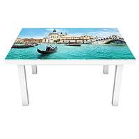Наклейка на стол виниловая Завораживающая венеция 02 ПВХ пленка для мебели интерьерная 3D гондолы 600*1200 мм
