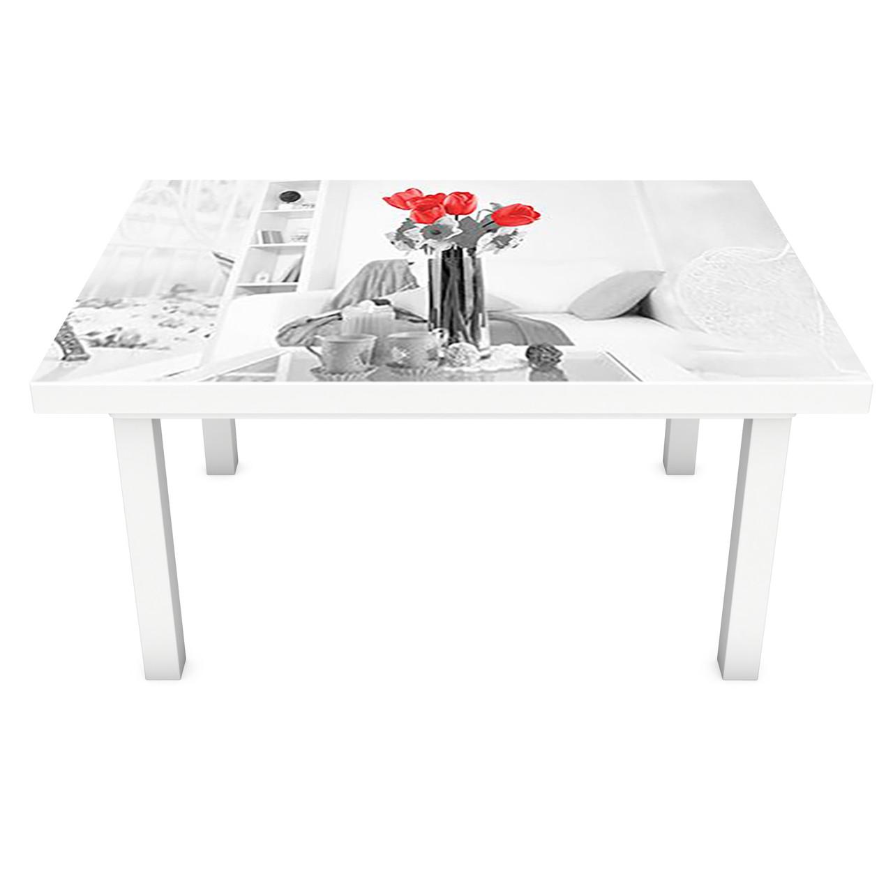 Наклейка на стол виниловая Домашний уют 02 на мебель интерьерная ПВХ 3Д Париж Эйфелева башня 600*1200 мм