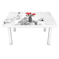 Наклейка на стіл вінілова Домашній затишок 02 на меблі інтер'єрна ПВХ 3Д Париж Ейфелева вежа 600*1200 мм