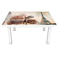 Наклейка на стол виниловая Сладости в Париже 02 ПВХ пленка для мебели интерьерная 3D 600*1200 мм, фото 1