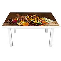 Наклейка на стол виниловая Рог изобилия натюрморт овощи (ПВХ пленка для мебели интерьерная 3D) 600*1200 мм, фото 1