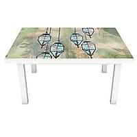 Наклейка на стіл вінілова Малюнок Особи і Ліхтарі ПВХ плівка для меблів інтер'єрна 3D люди 600*1200 мм