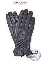 Женские кожаные зимние перчатки на меху кролика (мех искусственный) - F27-4, фото 1