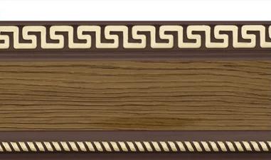 """Декоративная лента на потолочный карниз Бленда Меандр 3 """" Орех Тёмный"""" на потолочный карниз КСМ 70мм"""