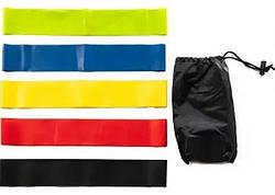 Набор резинок для фитнеса, эспандеров петель LOOP BANDS, 5 шт