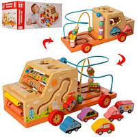 """Развивающая деревянная игрушка """"Машина"""" (бизиборд, пальчиковый лабиринт) арт. 2201 (39202)"""