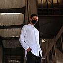 Рубашка мужская белая Ким (Kim) от бренда ТУР размер S, M, L, XL, фото 3