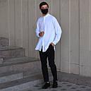 Рубашка мужская белая Ким (Kim) от бренда ТУР размер S, M, L, XL, фото 5