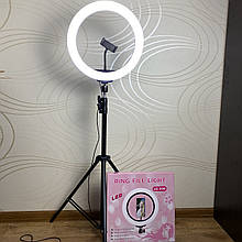 Кільцева LED лампа Ring Fill Light 30 см, зі штативом 2 метри