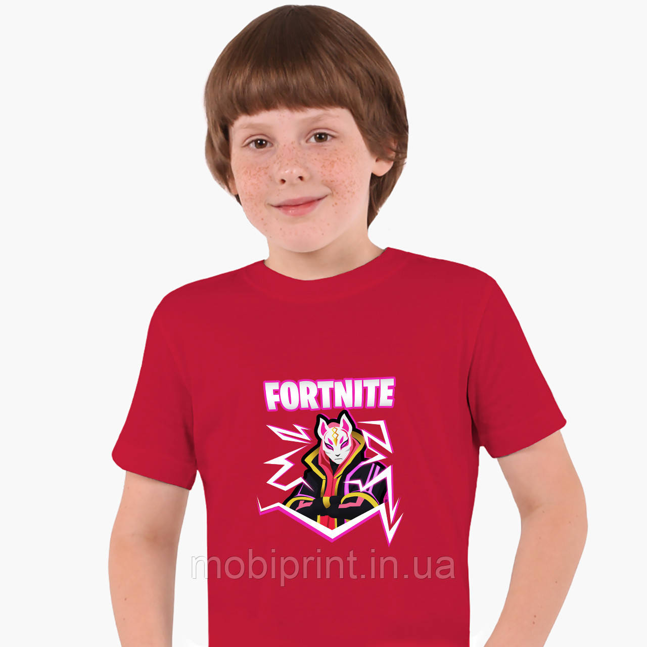 Детская футболка для мальчиков Фортнайт (Fortnite) (25186-1189) Красный