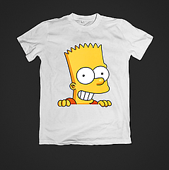 Футболка чоловіча з принтом Bart