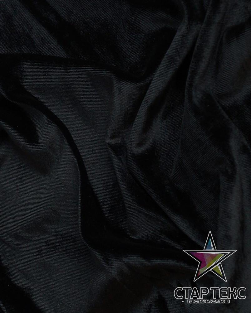 Бархат (Оксамит) стрейч Черный